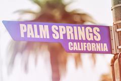 Palm Springs California Street Sign Kuvituskuvat