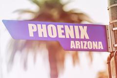 Phoenix Arizona Street Sign Stock Photos