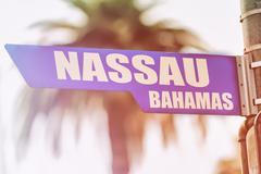 Nassau Bahamas Street Sign - stock photo
