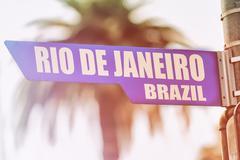Rio de Janeiro Brazil Street Sign Stock Photos