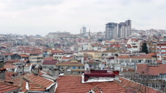 Ugly Roof Top view of Istanbul, Turkey Stock Footage