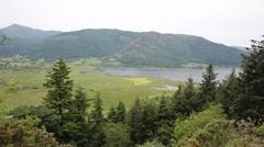 Bassenthwaite Lake and mountains Allerdale near Keswick Cumbria England uk Stock Footage