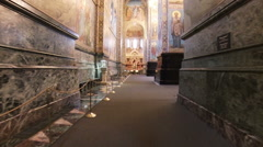 The interiors of Church of the Savior on Spilled Blood. Stock Footage