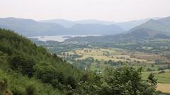 Mountains near Keswick lake District Cumbria England UK Stock Footage