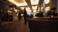 Coffee Shop Cafe Diners Bar blurred D7 Stock Footage