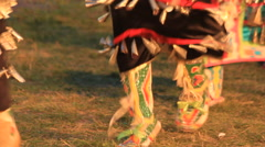 Pow wow feet Stock Footage