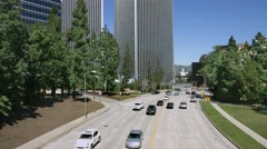 4K, UHD, Modern architecture and traffic, Century City,  Los Angeles, California Stock Footage