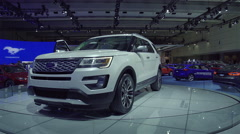 2016 Ford Explorer Platinum Stock Footage