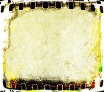 Grunge film strip frame - stock illustration