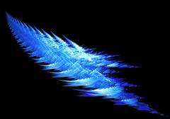 Blue fractal abstraction - stock illustration