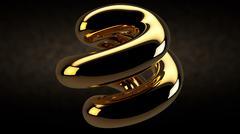 Abstract design gem gold Stock Illustration