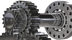 Stainless steel gears Stock Illustration