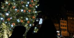 Christ Tree smartphone photography New Year Stock Footage