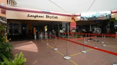 Tourists Queueing For Ticket At Langkawi Cable Car Stock Footage