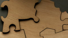 Background of the pieces of the puzzle - stock footage