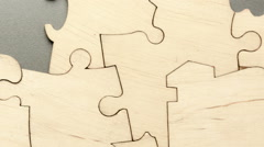 Background of the pieces of the puzzle Stock Footage