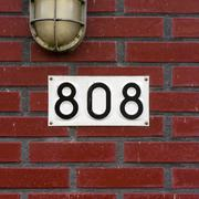 House number eight hundred and eight. - 808 Stock Photos