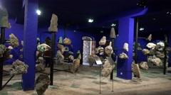 4k Blue room gemstones exhibition Jardim Tropical Madeira Stock Footage
