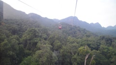 Gondola Pass By, Langkawi Cable Cable Car Stock Footage
