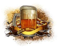 beer background - stock illustration