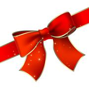 Red bow Stock Illustration
