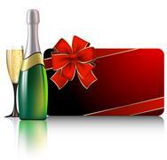 celebrate card - stock illustration