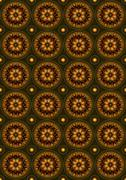 Background with pattern of ovals of with beads by circle Stock Illustration