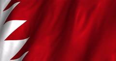 Baharain Waving Flag-4K Stock Footage