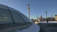 4K video Independence Square, Kiev, Ukraine Stock Footage