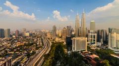 Kuala Lumpur Sunset Timelapse - 4K resolution Stock Footage