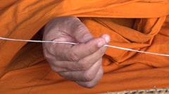 Becoming a monk in Thailand Stock Footage