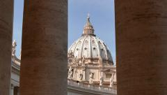 Religion Saint Peter Basilica Square Vatican Rome Roma Italy Italia Stock Footage