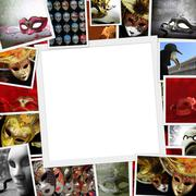 Collection of Carnival photos with copy space Stock Illustration