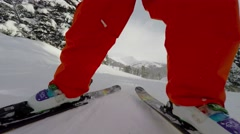 Ski boots at work Stock Footage