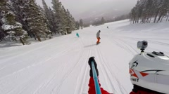 Enjoying a stay in Breckenridge Ski Resort Stock Footage