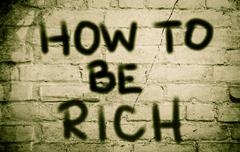 How To Be Rich Concept Piirros