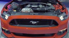 2016 Ford Mustang Engine Stock Footage