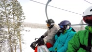 Stock Video Footage of Sitting in the lift in Breckenridge Ski Resort