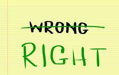 Right Concept - stock illustration