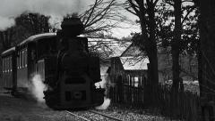 Old narrow gauge steam train 3 - stock footage