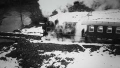 Old narrow gauge steam train 5 - stock footage