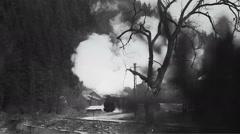 Old narrow gauge steam train 1 - stock footage