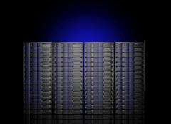 Stock Illustration of Network servers in data center