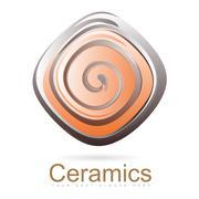 Stock Illustration of Ceramics logo