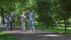 Elderly Patients Stock Footage