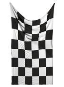 Finishing checkered flag on white background - stock illustration