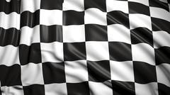 Finishing checkered flag Stock Illustration