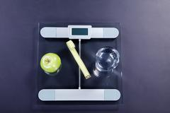 Weight scales with water Stock Photos