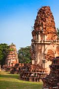 Old Temple of Ayuthaya, Thailand Stock Photos
