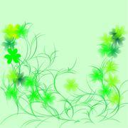 Shamrock on a green Stock Illustration